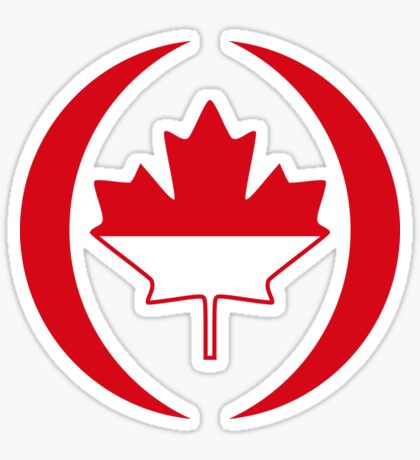 Indonesian Canadian Multinational Patriot Flag Series Sticker