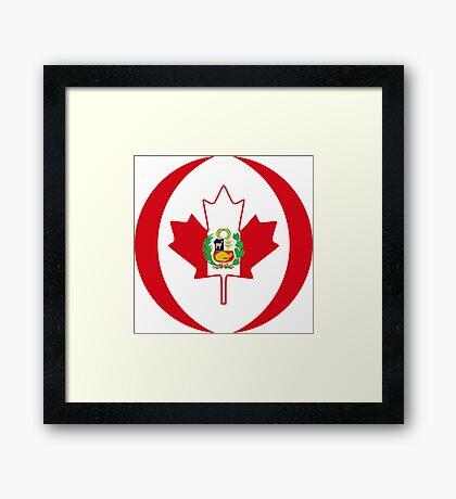 Peruvian Canadian Multinational Patriot Flag Series Framed Print