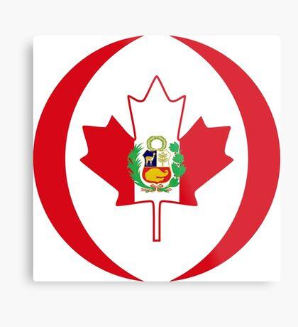 Peruvian Canadian Multinational Patriot Flag Series Metal Print