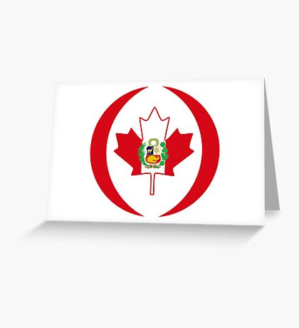 Peruvian Canadian Multinational Patriot Flag Series Greeting Card