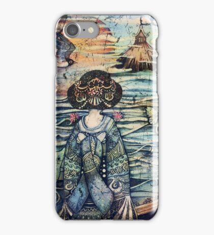 vintage geisha iPhone Case/Skin
