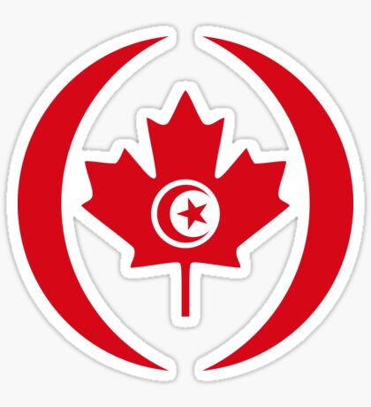 Tunisian Canadian Multinational Patriot Flag Series Sticker