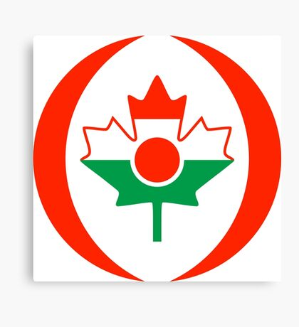 Niger Canadian Multinational Patriot Flag Series Canvas Print