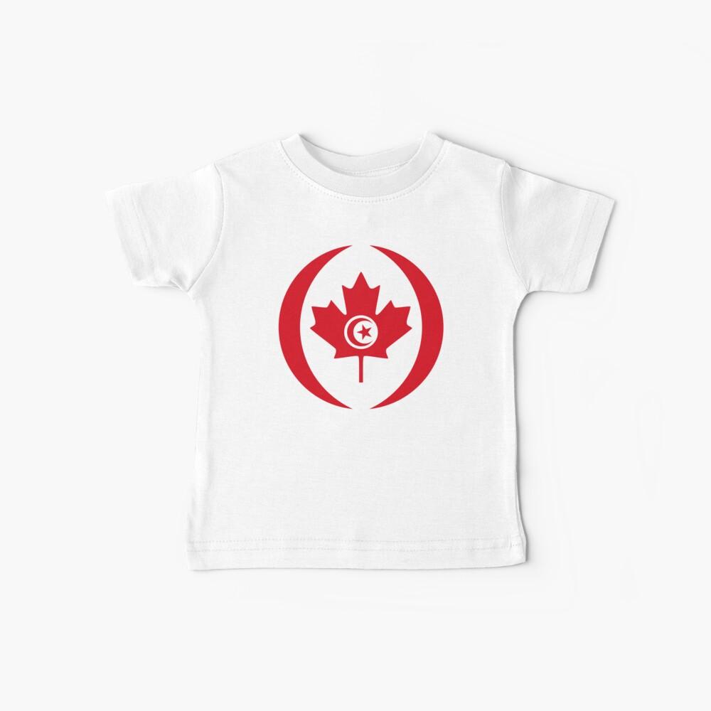 Tunisian Canadian Multinational Patriot Flag Series Baby T-Shirt