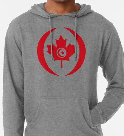Tunisian Canadian Multinational Patriot Flag Series Lightweight Hoodie