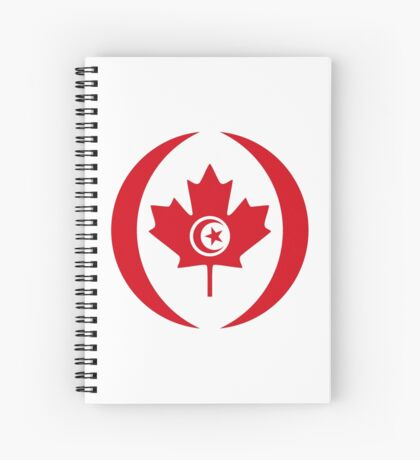 Tunisian Canadian Multinational Patriot Flag Series Spiral Notebook