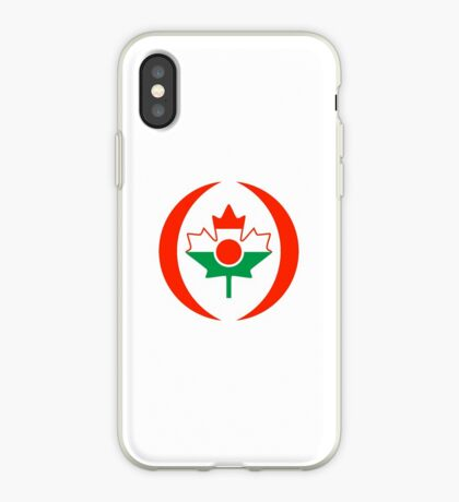 Niger Canadian Multinational Patriot Flag Series iPhone Case