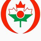 Niger Canadian Multinational Patriot Flag Series by Carbon-Fibre Media