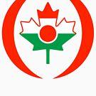 Niger Canadian Multinational Patriot Flag Series by Carbon-Fibre Media