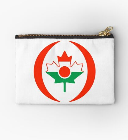 Niger Canadian Multinational Patriot Flag Series Zipper Pouch