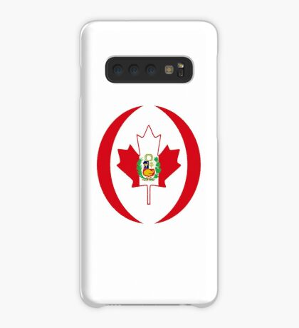 Peruvian Canadian Multinational Patriot Flag Series Case/Skin for Samsung Galaxy
