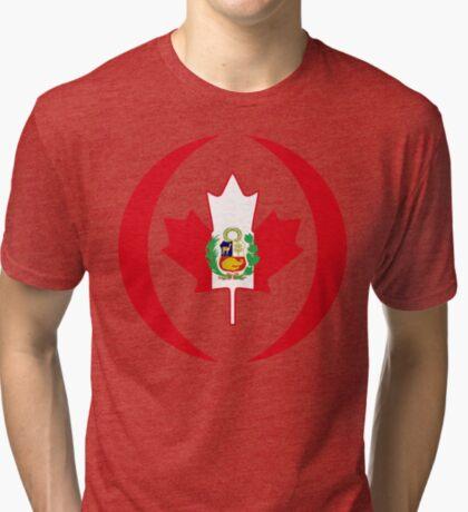 Peruvian Canadian Multinational Patriot Flag Series Tri-blend T-Shirt