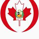 Peruvian Canadian Multinational Patriot Flag Series by Carbon-Fibre Media