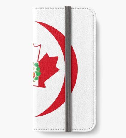 Peruvian Canadian Multinational Patriot Flag Series iPhone Wallet