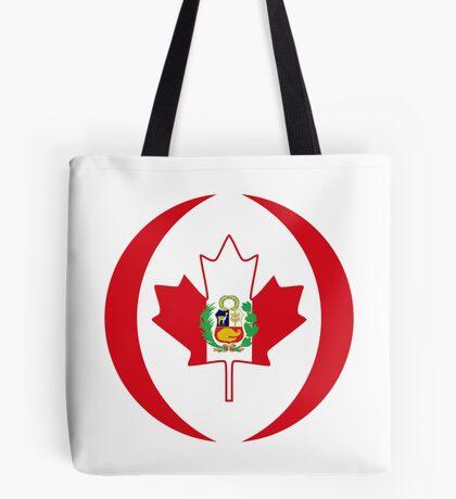 Peruvian Canadian Multinational Patriot Flag Series Tote Bag