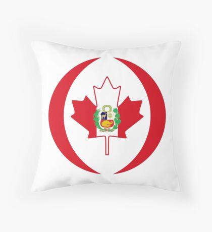 Peruvian Canadian Multinational Patriot Flag Series Throw Pillow