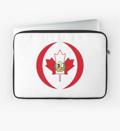 Peruvian Canadian Multinational Patriot Flag Series Laptop Sleeve