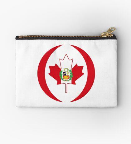 Peruvian Canadian Multinational Patriot Flag Series Zipper Pouch