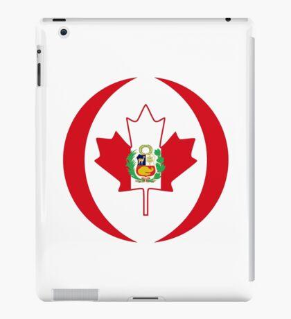 Peruvian Canadian Multinational Patriot Flag Series iPad Case/Skin