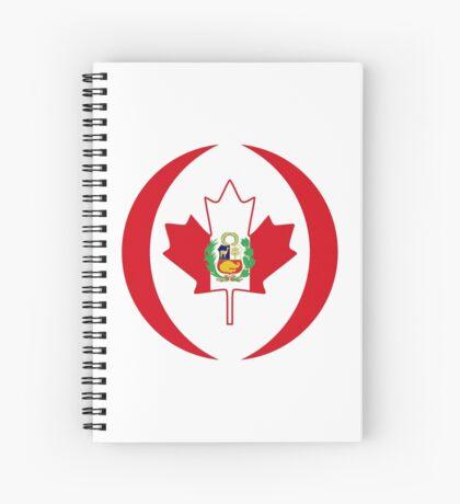 Peruvian Canadian Multinational Patriot Flag Series Spiral Notebook