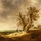Landscape with Two Oaks - Jan van Goyen 1641 by Mel Brackstone