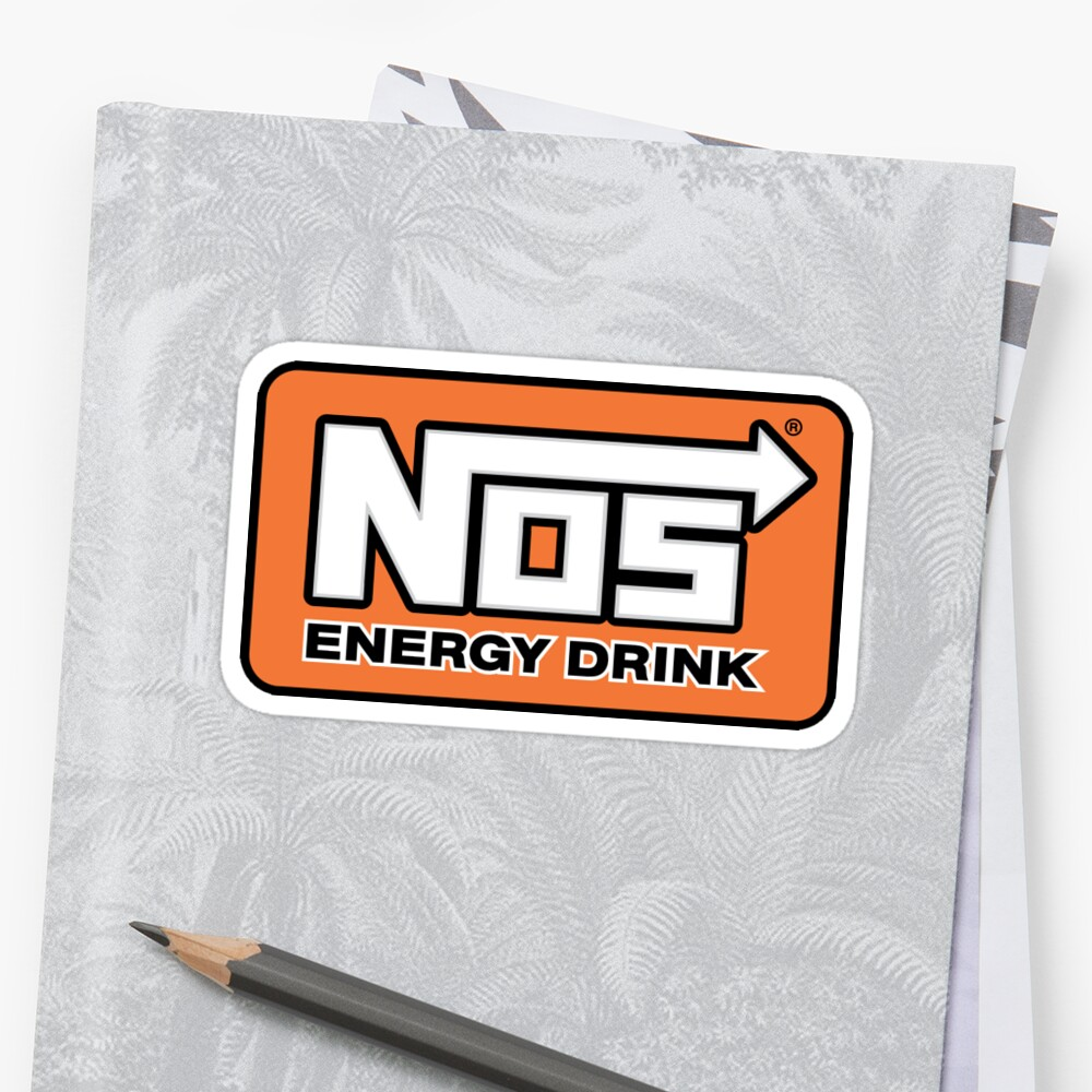 quotnos energy drink logoquot stickers by crowvalley redbubble