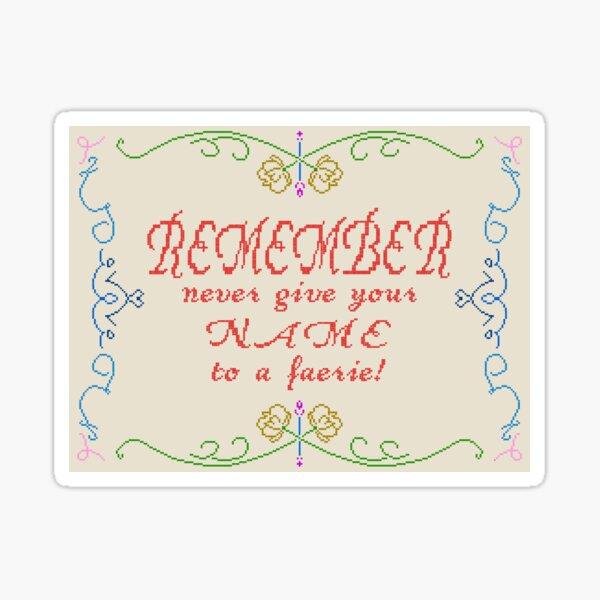 Friendly Reminder Sticker