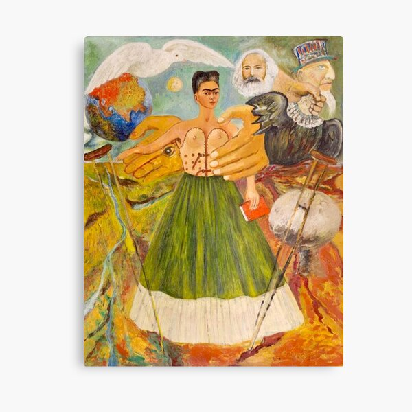 Marxism Will Give Health to the Sick by Frida Kahlo Canvas Print