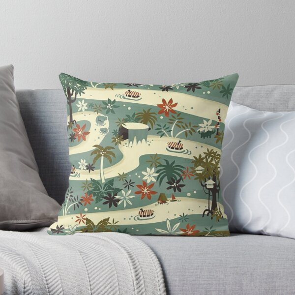 Jungle Cruise Throw Pillow