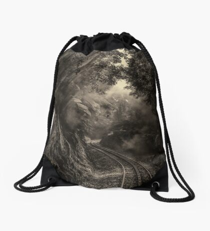 Steam and rainforest Drawstring Bag