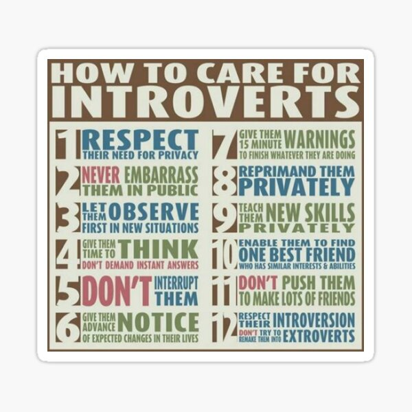 How To Care For Introverts  Sticker