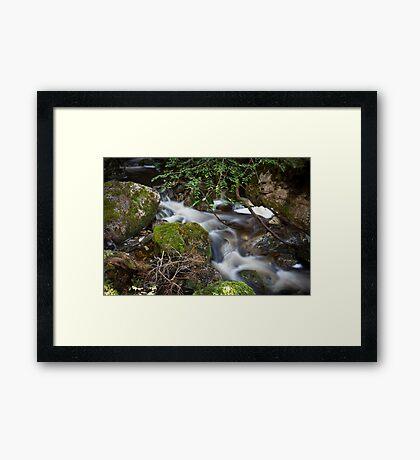 Crater Falls Framed Print