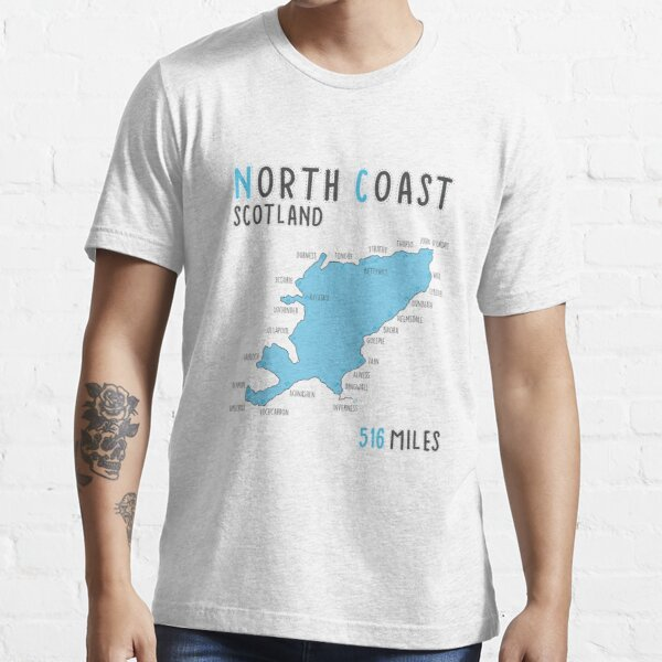 North Coast 500 Driving Route Map | Scotland | NC500 | 516 Miles Essential T-Shirt