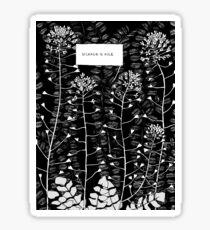 shepherd's purse Sticker