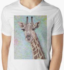 African Giraffe Men's V-Neck T-Shirt