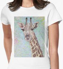 African Giraffe Women's Fitted T-Shirt