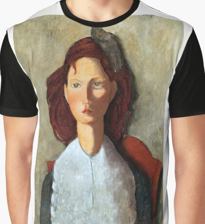 Young Girl, Seated, by Amedeo Modigliani Graphic T-Shirt