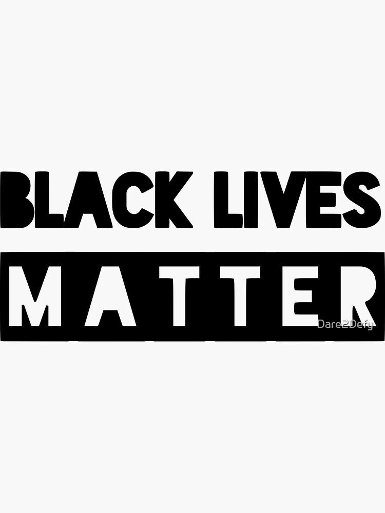 Las vidas negras importan de Dare2Defy