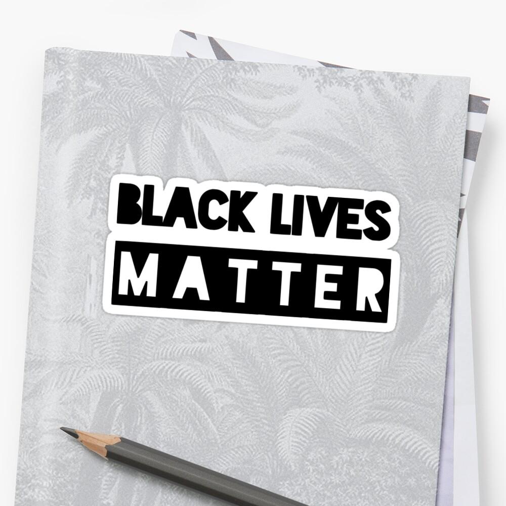 Las vidas negras importan Pegatinas