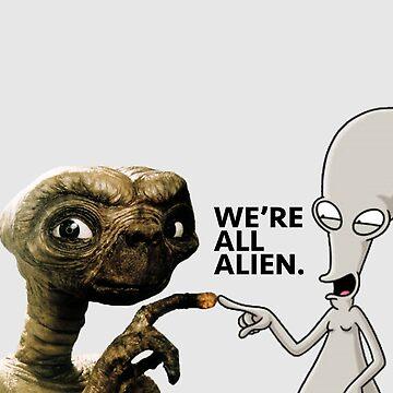 ET AND ROGER ALIEN LOVE by uhllissa