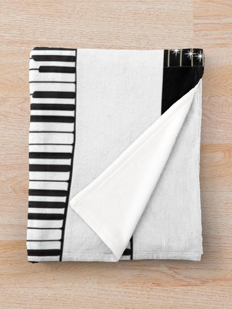 Alternate view of Piano keys  Throw Blanket