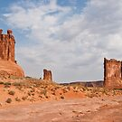 The Three Gossips, Sheep Rock  and Courthouse Tower by Jeff Goulden
