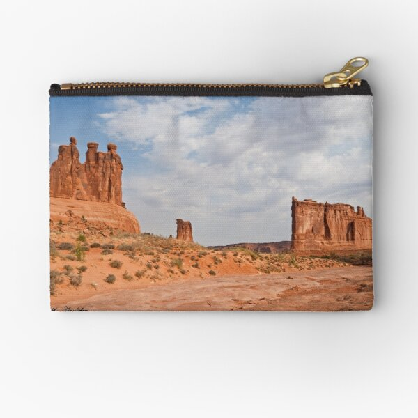 The Three Gossips, Sheep Rock  and Courthouse Tower Zipper Pouch