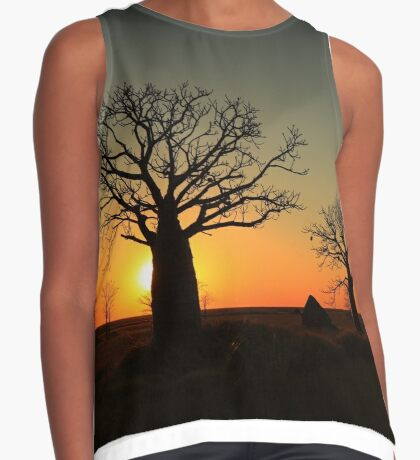 Sunset on the flats Contrast Tank