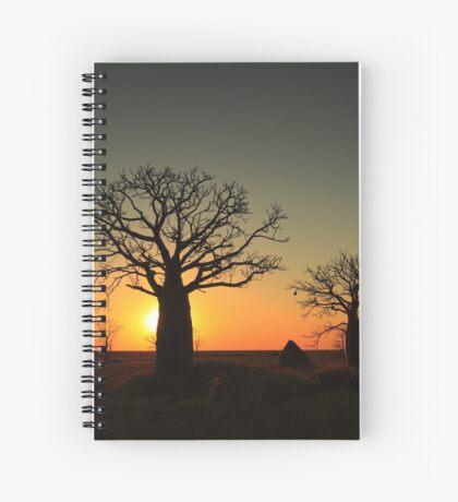 Sunset on the flats Spiral Notebook
