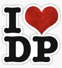 I heart DP on white Sticker