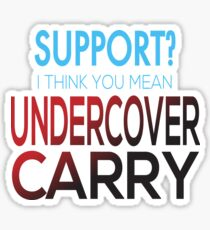 Undercover Carry Sticker