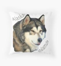 Products with breeds of dogs, Alaskan Malamute Throw Pillow
