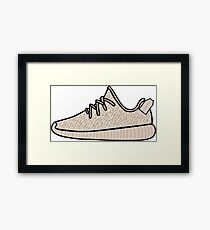 Yeezy Boost 350 Oxford Tan Framed Print