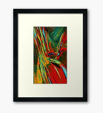 Red Yellow Green Abstract Framed Print